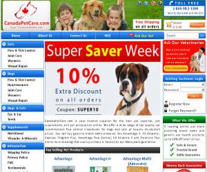 Canada Pet Care Discount Coupons