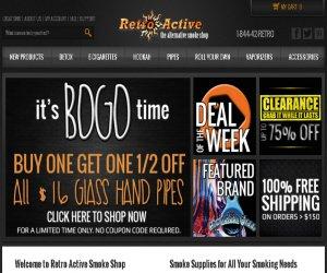 Retro Active Smoke Shop Discount Coupons