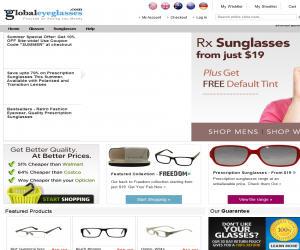 Global Eyeglasses Discount Coupons